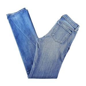 Flying Monkey Mid-Rise Medium Wash Bootcut Stretchy Blue Jeans 28